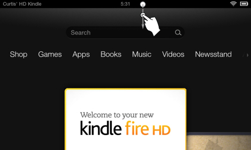 How to Slide Down Menu Settings on Kindle Fire HD