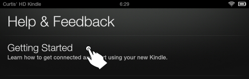 Kindle Fire HD Settings: Getting Started