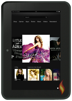 Kindle Fire HD 8.9 Sporting Taylor Swift CD