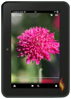 Kindle Fire Android With Customized Flower Wallpaper