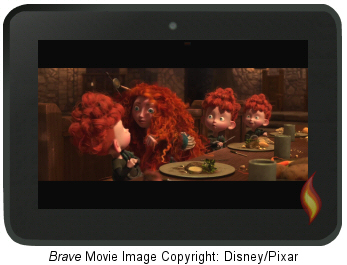 Kindle Fire Screen HD Video: Brave (Movie Image Copyright Disney/Pixar)