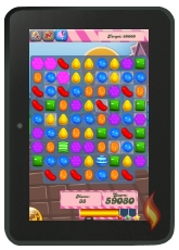 Candy Crush Saga on my Kindle Fire HD