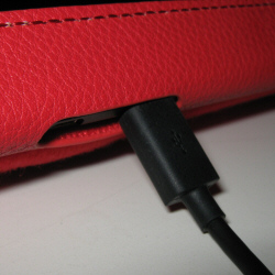 Kindle Fire HD Cover With Charger Plugged In