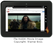 Kindle Fire Flash Player: The Hobbit Movie Image Copyright Warner Brothers