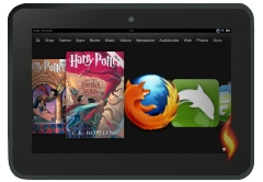 Kindle Fire HD Carousel Harry Potter Library Books