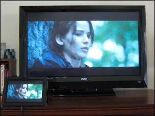 Playing The Hunger Games on Kindle Fire to my TV (Movie image copyright Lionsgate)