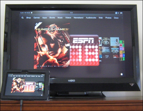 My Kindle Fire on My TV