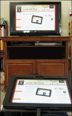 Using Kindle Fire from Couch to TV