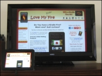 Kindle Fire HD Connected to HDTV