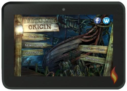 Twisted Lands Origins Start Screen