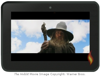 Kindle Fire Flash Video: The Hobbit  in theaters 12/14/12