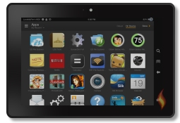Apps Screen on Kindle Fire HDX 7