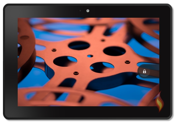 Kindle Fire HDX 7 Film Reel Background