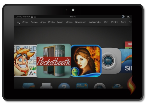 Kindle Fire HDX 7 Carousel Showing Apps