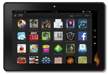 Apps on my Kindle Fire HDX