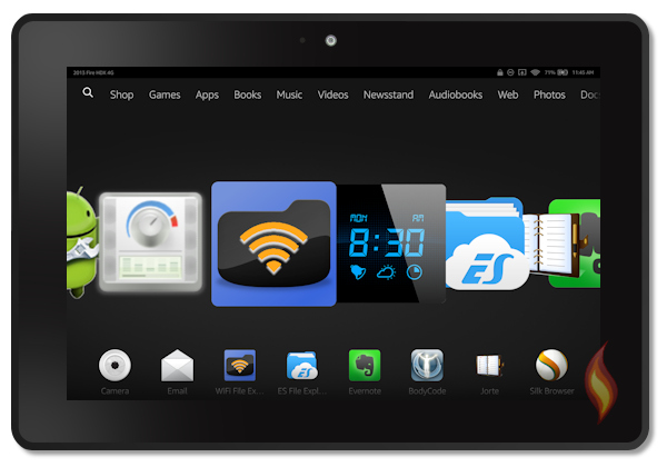Kindle Fire HDX Carousel With Best Apps of Best Apps