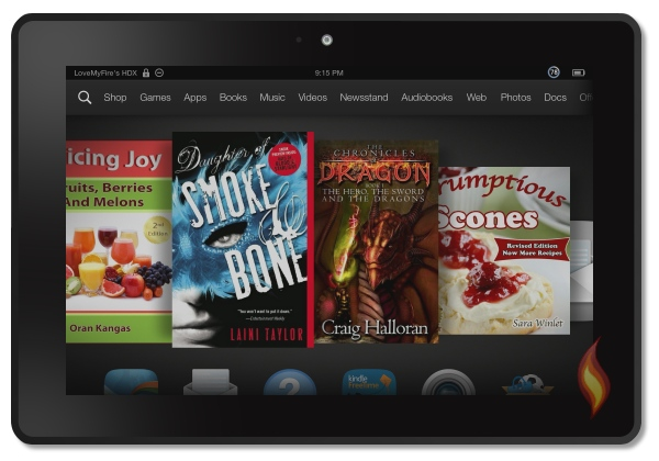 Kindle Fire Transparent