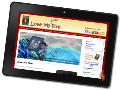 LoveMyFire.com on My Kindle Fire HDX