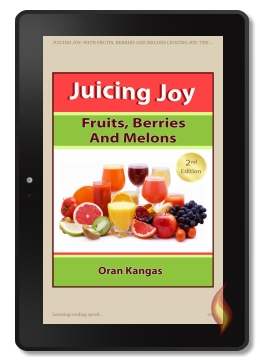 Kindle Book, Juicing Joy, on Kindle Fire