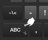 Tap ABC Key