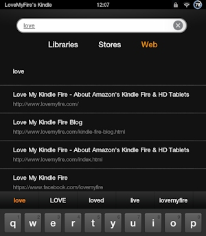 Search Display with Love