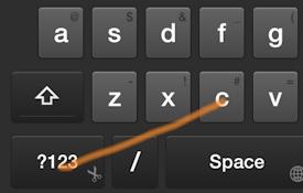 Swipe Shortcut: Copy