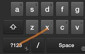 Swipe Shortcut: Cut