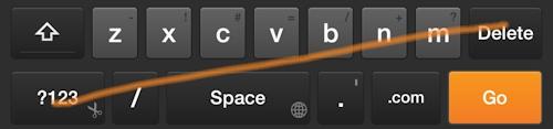 Swipe Shortcut: Close Keyboard