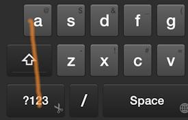 Swipe Shortcut: Select All