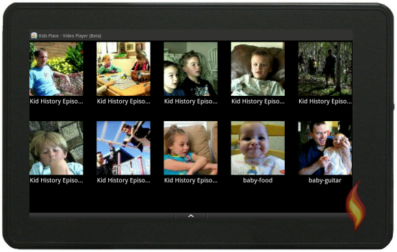 Videos on My Kindle Fire using Kids Place