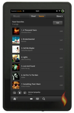 Kindle Fire Music Favorites List