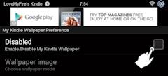 Enable My Kindle Wallpaper App