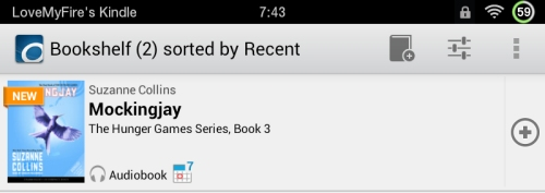 Kindle Fire OverDrive App Audio Books