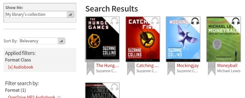 Kindle Fire OverDrive App Search Audio Books