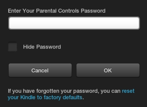 Enter Your Kindle Fire Password for all Purchases