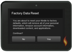 Kindle Fire Problem: Reset to Factory Defaults