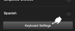 Tap Keyboard Settings