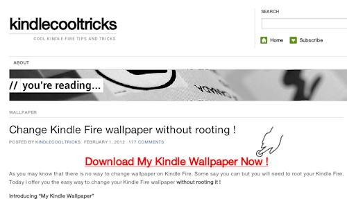 Download My Kindle Wallpaper App