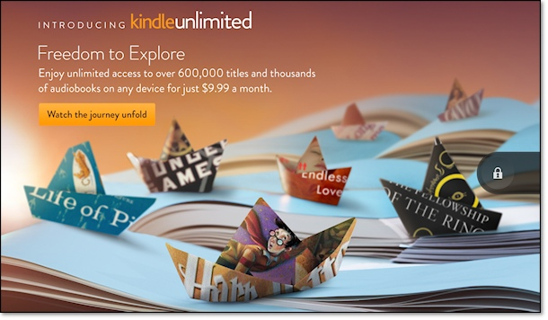 Kindle Fire Ad for Kindle Unlimited