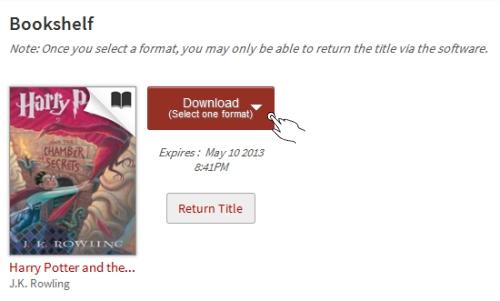 OverDrive Bookshelf Download Format