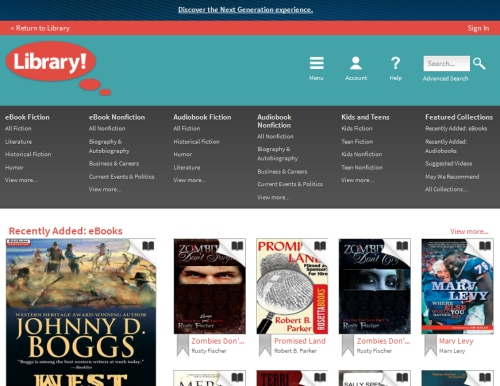 OverDrive Library Website