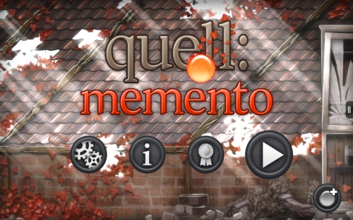 Quell Memento Start Screen
