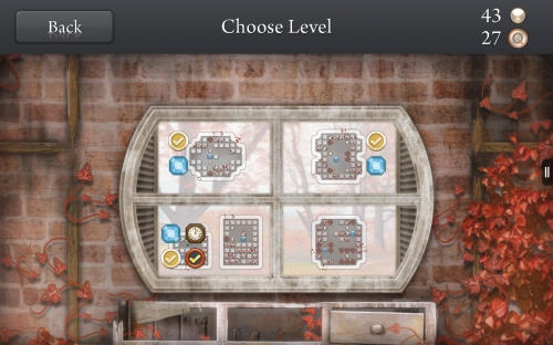 Quell Memento Choose Level Screen