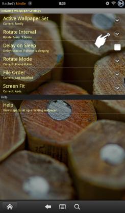 Rotating Wallpaper Select Interval