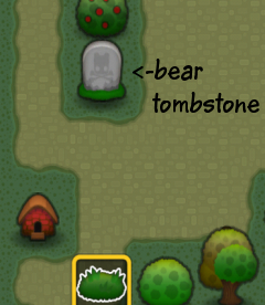 Triple Town Bear Tombstone