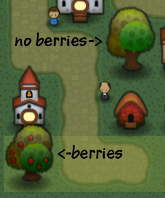 Triple Town Trees With and Without Berries