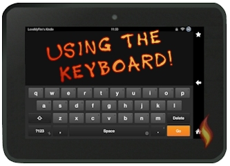 Kindle Fire HD Keyboard in Landscape