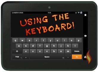 Kindle Fire HD Keyboard in Landscape
