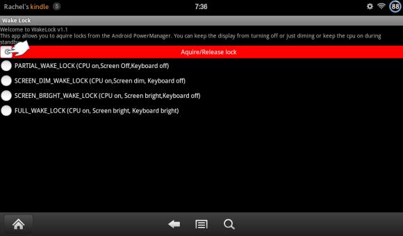 Turn on Kindle Fire App