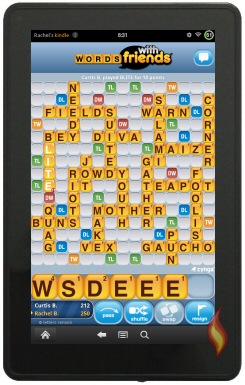 Words With Friends Game on My Kindle Fire